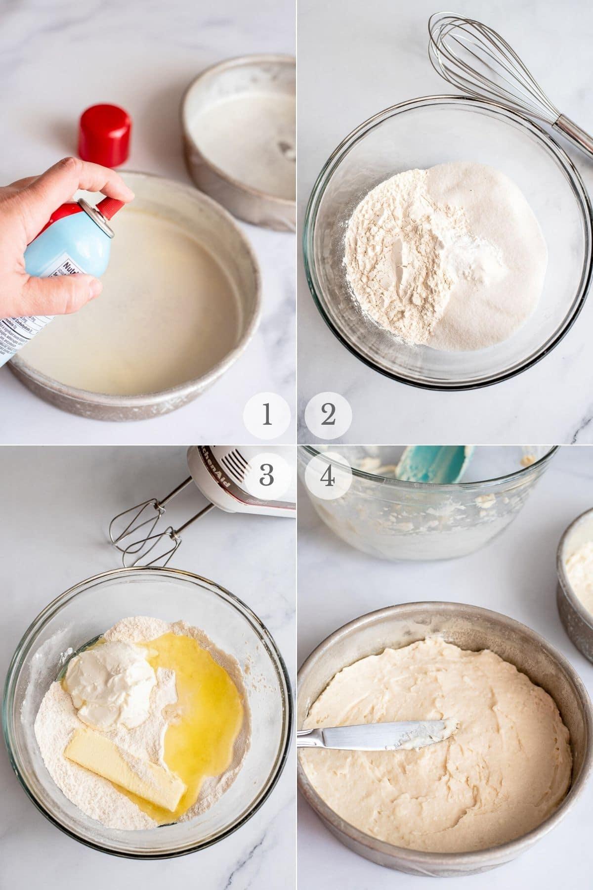 sour cream cake recipes steps 1-4