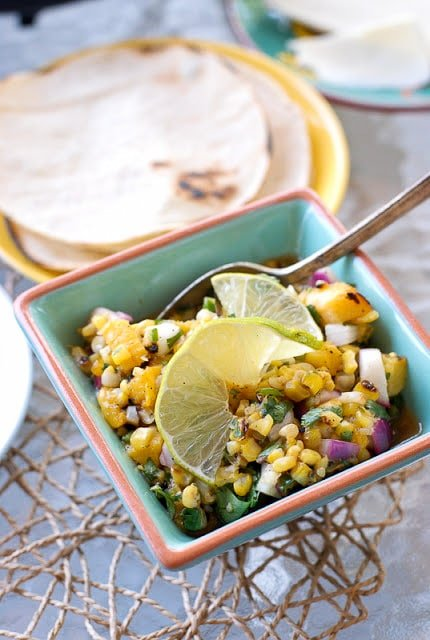 Grilled Corn and Peach Salsa - BoulderLocavore.com
