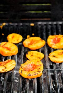 Grilled peaches for Grilled Peach and Corn Salsa BoulderLocavore.com