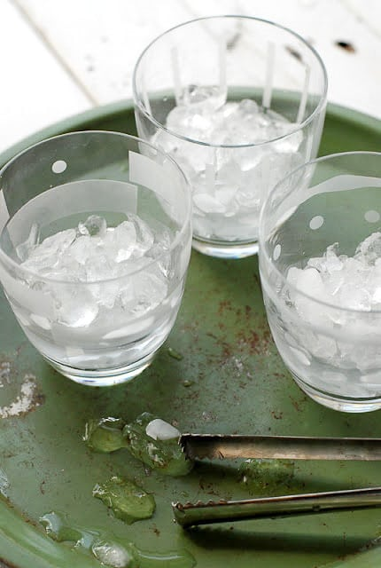 Ice in Old Fashioned Cocktail Glasses -  BoulderLocavore.com