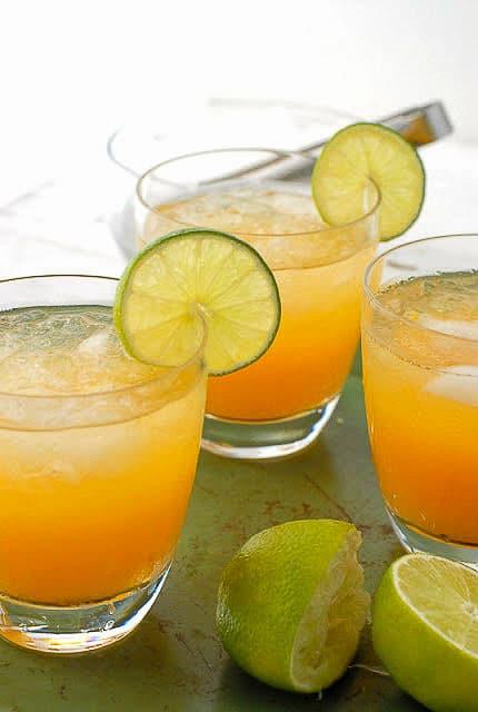 Fresh Peach Margarita and Fresh Peach Spritzer (non-alcoholic)