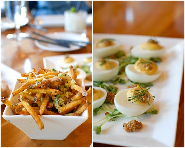 Vail Sweet Basil restaurant Truffle Fries and Deviled Eggs - BoulderLocavore.com