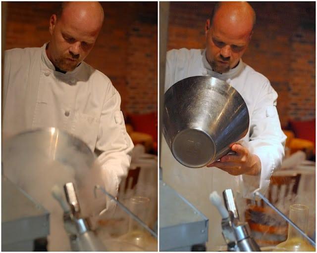 Chef Ian Kleinman molecular gastronomy making ice cream