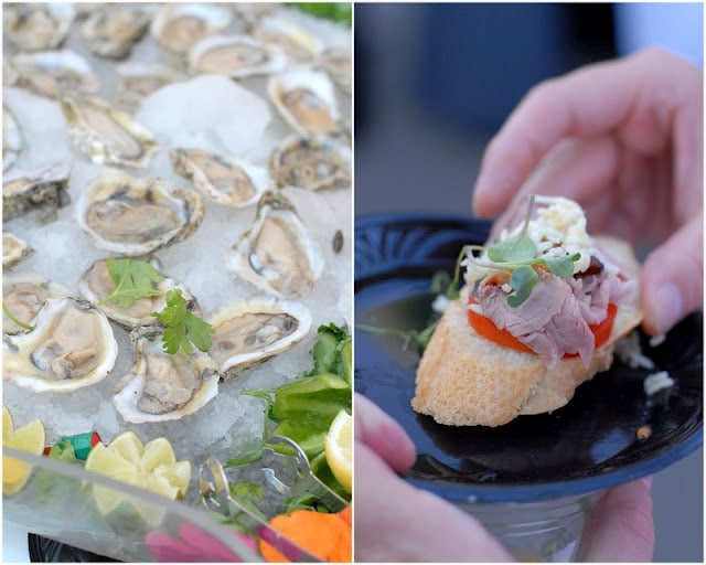 oysters and appetizers on plate
