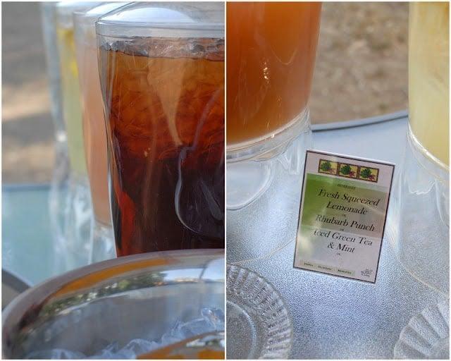 Iced tea at farm dinner