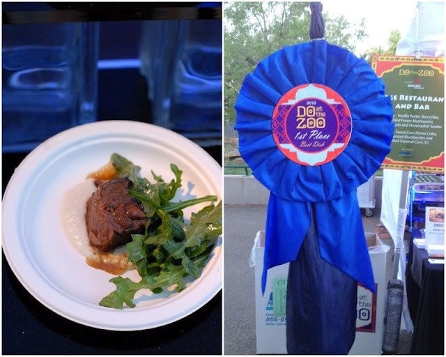 plate of food and first place blue ribbon