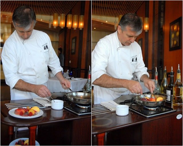 Chef cooking tableside