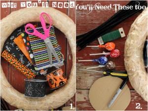 DIY Halloween Treat Wreath what you'll need | BoulderLocavore.com