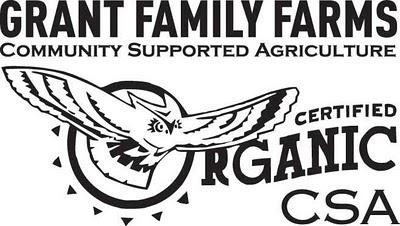 A close up of a CSA farm sign