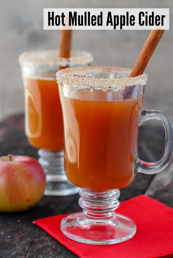 hot mulled apple cider cocktail