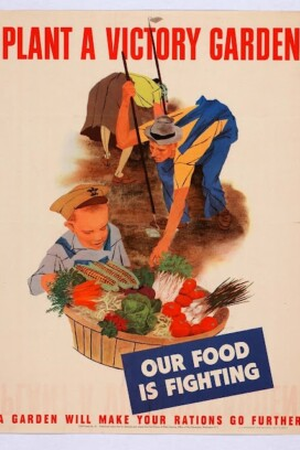 vintage victory garden poster