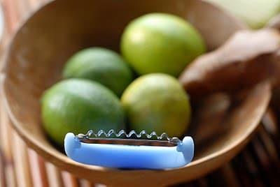 limes with a slicer