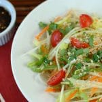 Thai Spicy Green Papaya Salad, Siam Sunray cocktail and The Perfect Buddha