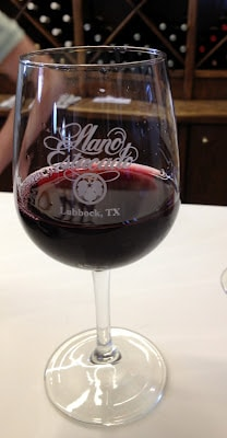 A glass of wine at Texas Winery