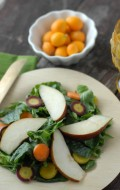 Spicy Mustard Mint Mizuna Salad with Tangerine-Balsamic Vinaigrette Dressing | BoulderLocavore.com