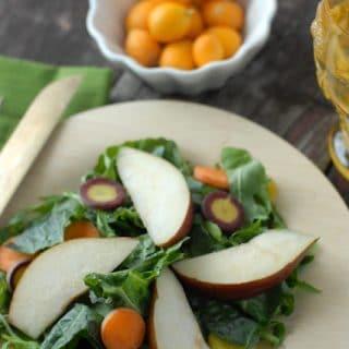 Spicy Mustard Mint Mizuna Salad with Tangerine-Balsamic Vinaigrette Dressing