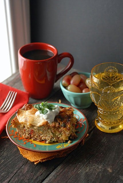 mexican casserole and breakfast items