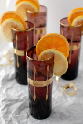 Champagne cup cocktails