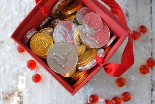 chocolate foil coins