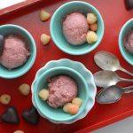{No Machine} Strawberry Jam Buttermilk Ice Cream and Homemade Dark Chocolate Hearts