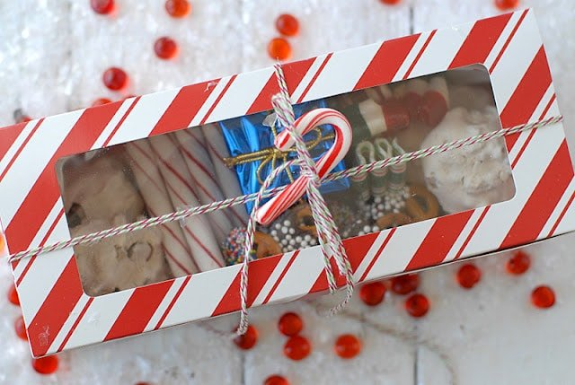 Festive Chocolate-Dipped Pretzels and Holiday Treat Boxes