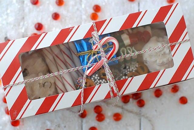 holiday treat boxes with homemade treats