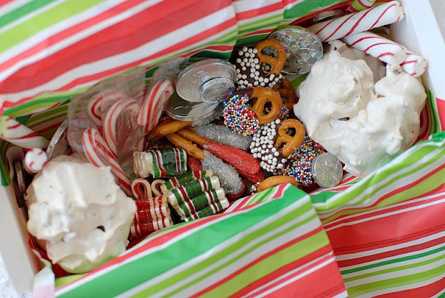 chocolate dipped pretzels holiday treat box