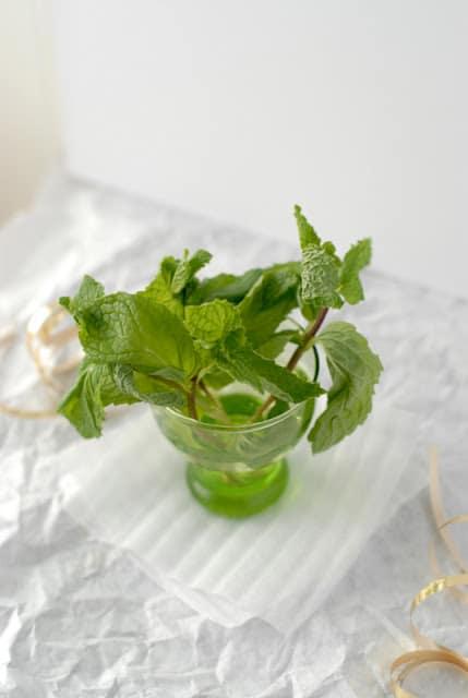 mint in glass