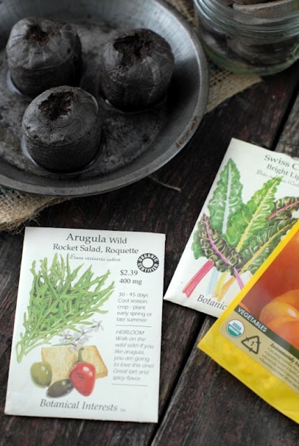 seed packets with peat pots