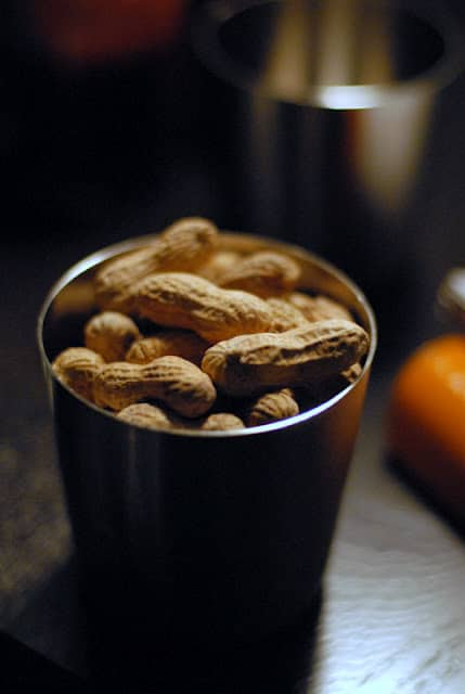 peanuts in container