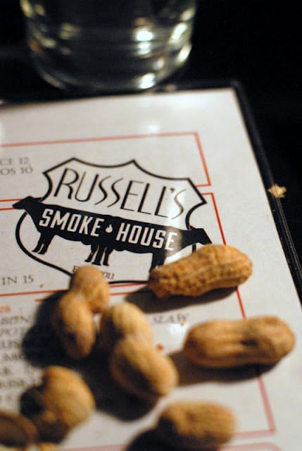menu with peanuts