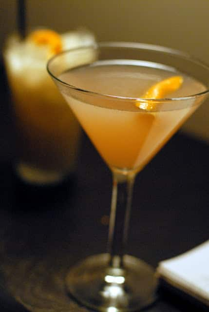 cocktail with orange twise