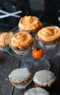 Pumpkin Spice Cupcakes with Bourbon-Orange Glaze or Cream Cheese frosting