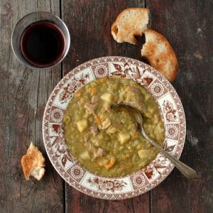 Split Pea Soup with Red Wine and Ham | BoulderLocavore.com