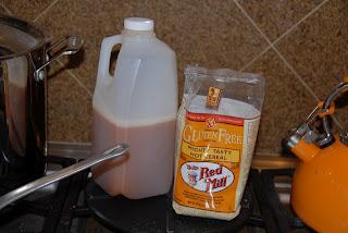 ingredients for apple cider hot cereal