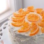 Gluten Free Orange-Cardamom Three Layer Cake and The Bronx cocktail