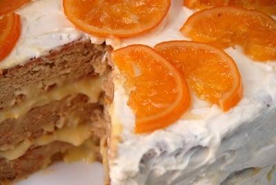 A close up of a slice of orange