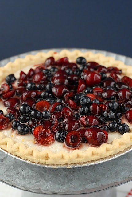cherry and blueberry cloud pie