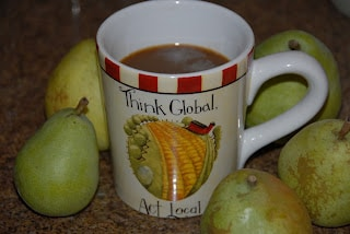 Think Global Buy Local coffee mug | BoulderLocavore.com