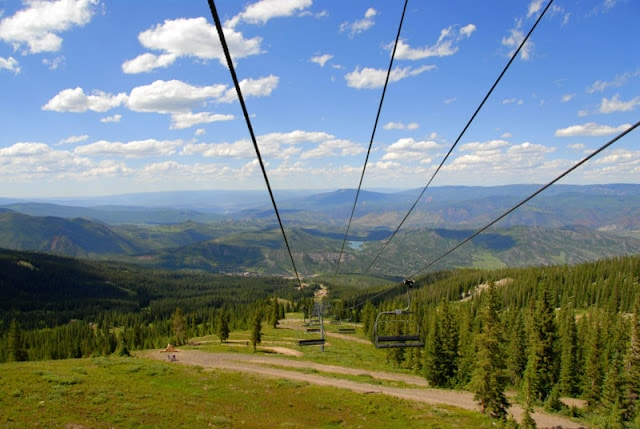 chairlift with mountain view