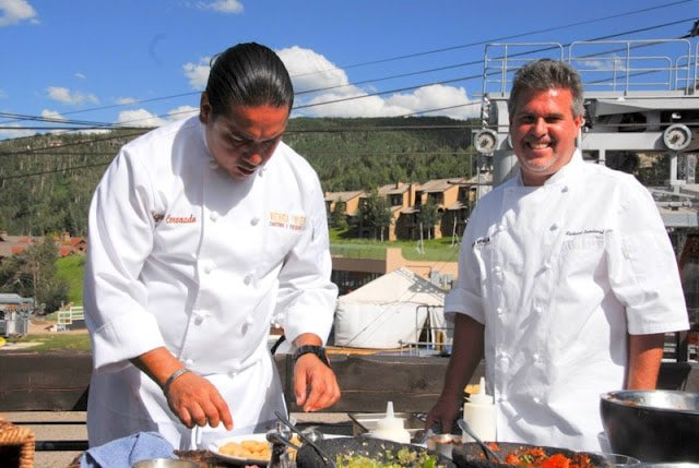 chefs cooking at snowmass festival