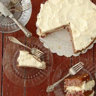 Sour Cream Cherry Cake gluten free | BoulderLocavore.com