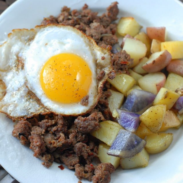 venison hash and egg