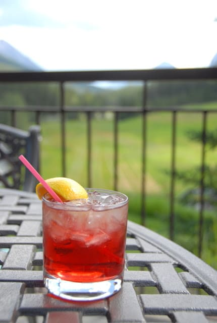 Captains Passion cocktail in Banff