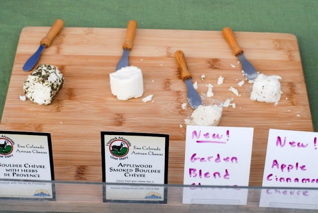 goat cheese at farmer\'s market