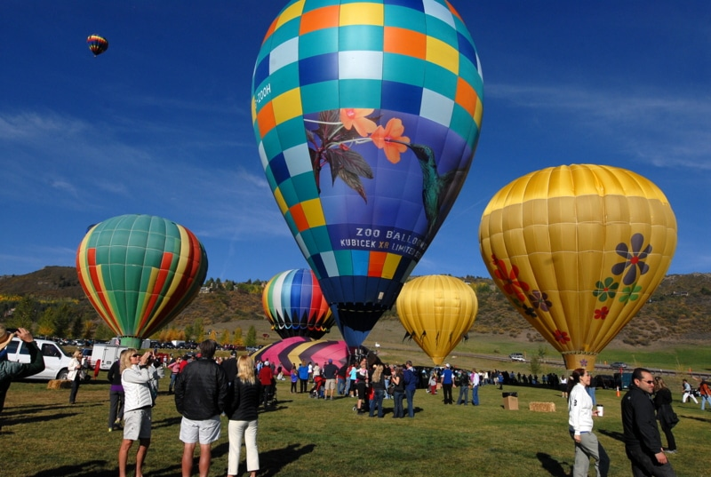 A group of colorful hot air balloon in the sky