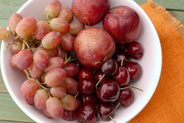 bowl of red fruits