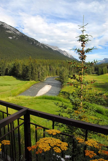 river and valley at Fairmont Banff