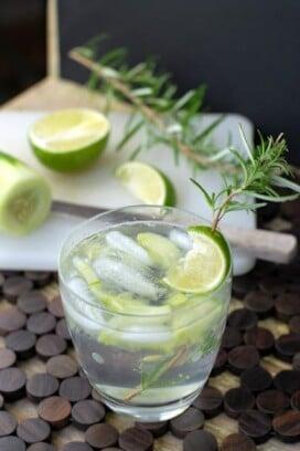 Farmer's Market Gin & Tonic cocktail