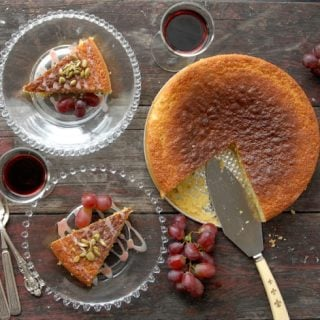 Pineapple-Sage Olive Oil Cake with Port Glaze | BoulderLocavore.com
